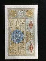 Lot 510-A BANK OF SCOTLAND £20 TWENTY POUNDS NOTE, 1963