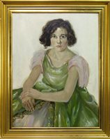Lot 621-PORTRAIT OF A YOUNG LADY, AN OIL BY DONALD A DONALDSON