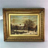 Lot 12-AN OIL DEPICTING WELLFIELD HOUSE, STRATHMIGLO