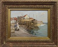 Lot 448-A FIFE BOATYARD, AN OIL BY WILLIAM WATT MILNE