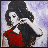 Lot 661-AMY WINEHOUSE, AN ACRYLIC BY MARCUS HISLOP