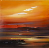 Lot 662-GOLDEN EVENING, AN OIL BY JOHN EVANS