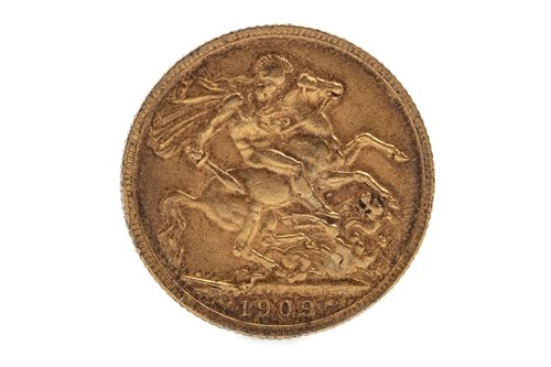 Lot 503-A GOLD SOVEREIGN, 1909