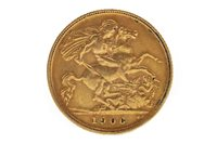 Lot 504-A GOLD HALF SOVEREIGN, 1906
