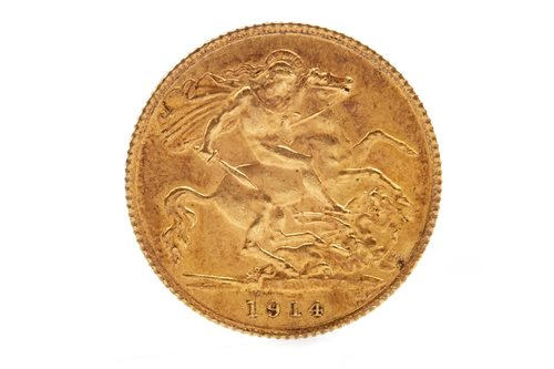 Lot 505-A GOLD HALF SOVEREIGN, 1914