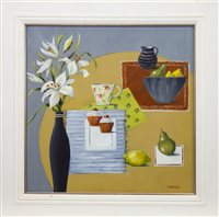 Lot 684-TABLE TREAT, AN OIL BY LYNNE JOHNSTONE