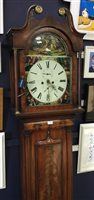 Lot 1412-A MID 19TH CENTURY SCOTTISH LONGCASE CLOCK.