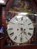 Lot 1412 - A MID 19TH CENTURY SCOTTISH LONGCASE CLOCK.