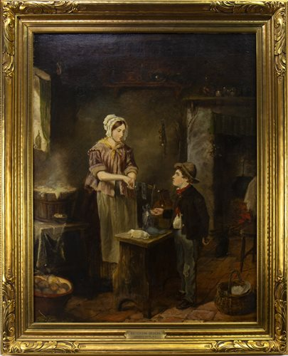 Lot 451-RECEIVING ORDERS, AN OIL BY ERSKINE NICOL