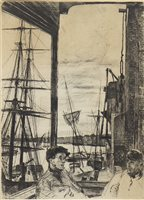 Lot 453-ROTHERHITHE, AN ETCHING BY WHISTLER