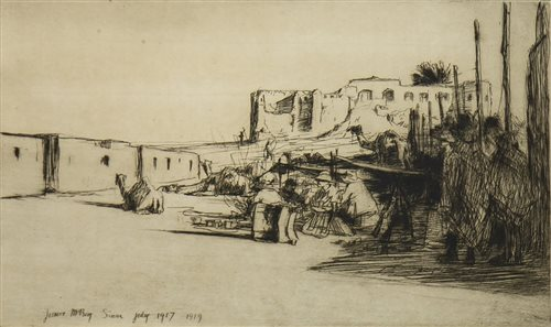 Lot 454-SINAR, AN ETCHING BY JAMES MCBEY