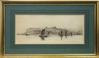 Lot 456-WHITEBY BAY, AN ETCHING BY FRANK HARDING