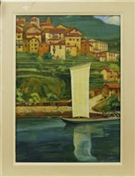 Lot 459-RIVER LANDSCAPE, AN OIL BY SOFIA MARTINS DESOZA