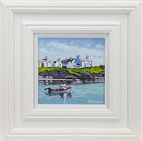 Lot 692-SUMMER DAY, PORTNAHAVEN, AN OIL BY FRANK COLCLOUGH
