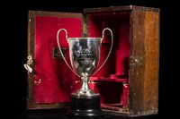 Lot 1932 - EARLY 20TH CENTURY SILVER CURLING TROPHY