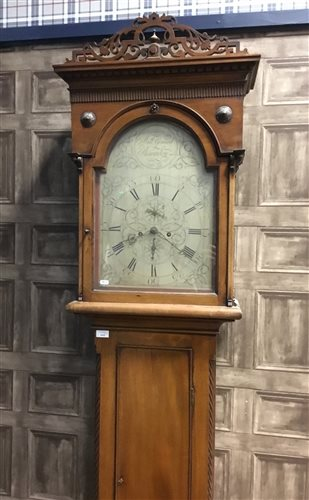 Lot 1415 - AN EARLY 19TH CENTURY WEST COAST LONGCASE CLOCK