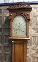 Lot 1415-AN EARLY 19TH CENTURY WEST COAST LONGCASE CLOCK