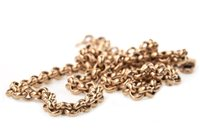 Lot 21-A GOLD CHAIN NECKLACE