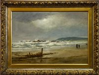 Lot 460-CRUDEN BAY, ABERDEENSHIRE, AN OIL BY CAPTAIN CHARLES ARTHUR LODDER