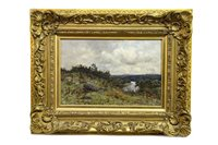 Lot 461-A PERTHSHIRE STREAM, AN OIL BY JOSEPH MORRIS HENDERSON