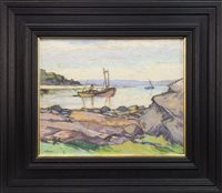 Lot 465-ARRAN, A PASTEL BY ERNEST ARCHIBALD TAYLOR