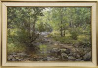 Lot 466-AYRSHIRE STREAM, AN OIL BY JOSEPH MORRIS HENDERSON