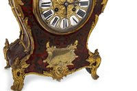 Lot 1418 - A VICTORIAN BOULLE AND GILT METAL MANTEL CLOCK