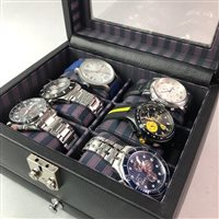 Lot 10-A LOT OF SIX GENTS WRIST WATCHES