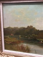 Image for PUNT FISHING ON THE THAMES, AN OIL BY ROBERT WEIR ALLAN
