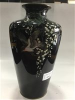 Lot 1054-A PAIR OF JAPANESE CLOISONNE VASES
