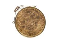 Lot 506 - A GOLD USA $20 TWENTY DOLLAR COIN, 1877