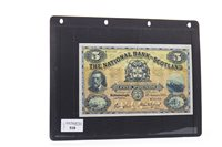 Lot 518 - THE NATIONAL BANK OF SCOTLAND £5 FIVE POUNDS NOTE, 1943