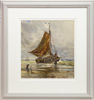 Lot 470-EAST COAST HERRING BOAT SETTING SAIL, A WATERCOLOUR BY SAMUEL BOUGH