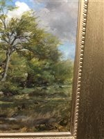Lot 473-SKETCHING IN EAST LOTHIAN, AN OIL BY WILLIAM DARLING MCKAY