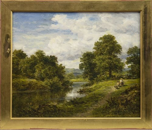 Lot 475-A FINE DAY IN SURREY, AN OIL BY BENJAMIN WILLIAMS LEADER