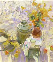 Lot 618-SUMMER OUTSIDE, AN OIL BY SERGEI KOVALENKO