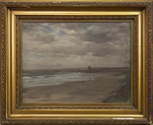 Lot 476-EAST COAST BEACH, AN OIL BY DAVID MACBETH SUTHERLAND