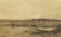 Lot 477-GOLFERS ON THE LINKS, GULLANE