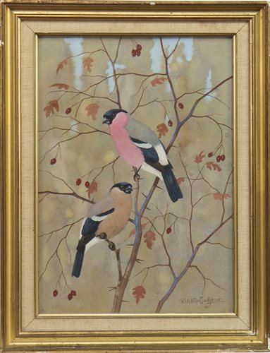 Lot 478-CHAFFINCHES, A GOUACHE BY RALSTON GUDGEON