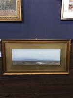 Lot 479-THE MOORS OF LYDFORD; and ANOTHER LANDSCAPE, A PAIR OF GOUACHES BY FREDERICK JOHN WIDGERY