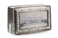 Lot 839-A WILLIAM IV SILVER SNUFF BOX BY NATHANIEL MILLS
