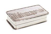 Lot 843-A SILVER CASTLE TOP SNUFF BOX