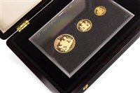 Lot 524-Amendment: there is £5, £2 and sovereign A WESTMINSTER THE 2011 JERSEY GOLD PROOF THREE COIN SET