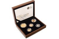 Lot 525-THE ROYAL MINT THE 2009 UK GOLD PROOF SOVEREIGN FIVE-COIN COLLECTION