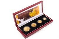 Lot 528-THE ROYAL MINT THE 2005 UK BRITANNIA FOUR-COIN GOLD PROOF SET