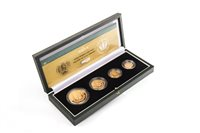 Lot 529-THE ROYAL MINT THE 2002 UNITED KINGDOM GOLD PROOF FOUR-COIN SOVEREIGN COLLECTION