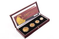 Lot 530 - THE ROYAL MINT 2007 BRITANNIA COLLECTION GOLD PROOF FOUR-COIN SET