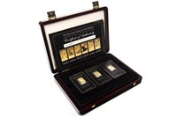 Lot 547-Amendment- there are 6 ingots in this set A WESTMINSTER THE BULLION COINS INGOT COLLECTION