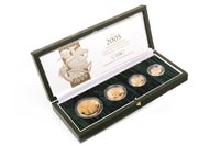 Lot 566 - A THE ROYAL MINT THE 2005 UNITED KINGDOM GOLD PROOF FOUR-COIN SOVEREIGN COLLECTION