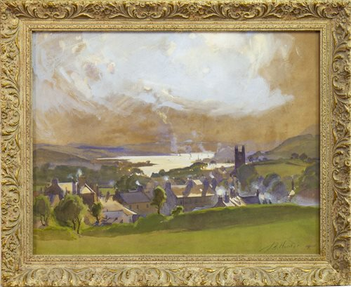 Lot 480-OLD KILPATRICK, A WATERCOLOUR BY JOHN YOUNG HUNTER